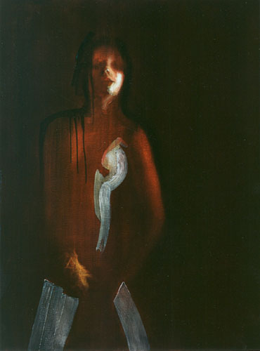 Glove Girl, 1991, Oil on canvas 48 x 36 inches, Private Collection