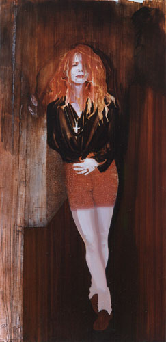 Mary Magdalene, 1991, Oil on canvas 88 x 44 inches