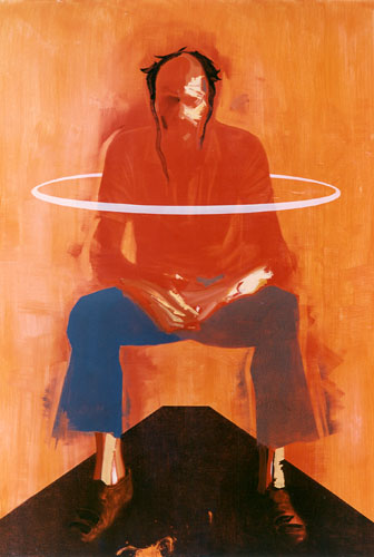 Saul, 1991, Oil on canvas 93 x 65 inches