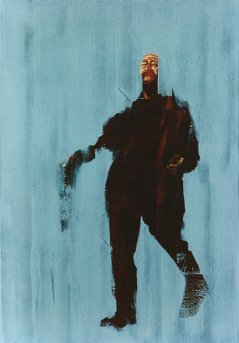 Zipperhoofd, 1991, Oil on canvas 88 x 62 inches